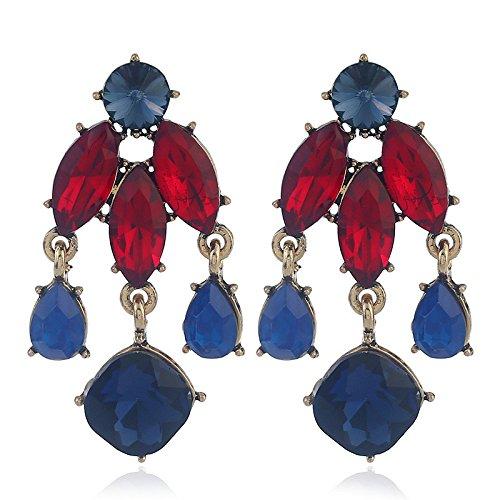 Dana Carrie En Europa, los Estados Unidos exageraron la moda insertar la broca de aleación de oro-su earrings ear oído uñas joyería colgante