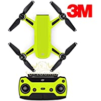 SopiGuard 3M Neon Yellow Precision Edge-to-Edge Coverage Vinyl Sticker Skin Controller 3 x Battery Wraps for DJI Spark