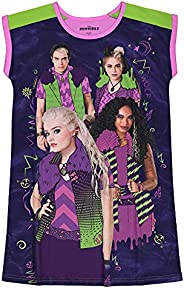 Descendants Girls Pajama Nightgown Disney Zombies Sleepwear, 6-14, Purple