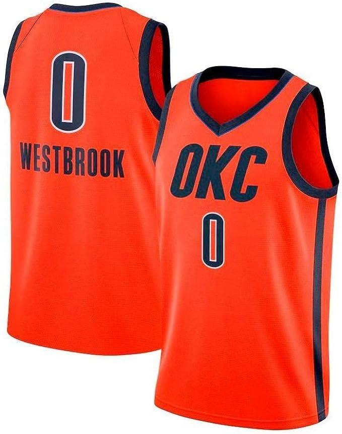 YOYO Jerseys De Baloncesto para Hombre-0 Russell Westbrook ...