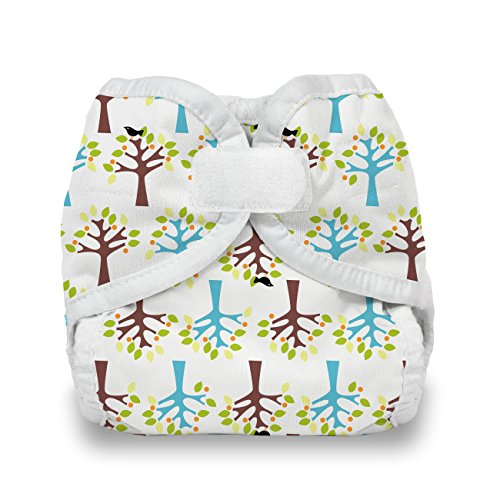 Price comparison product image Thirsties Reusable Cloth Diaper Cover,  Hook & Loop Closure,  Blackbird X-Small