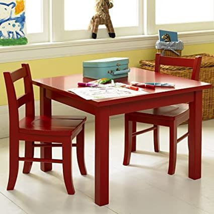 4a67f5a787be Amazon.com  Pottery Barn Kids My First Table   Chairs  Kitchen   Dining