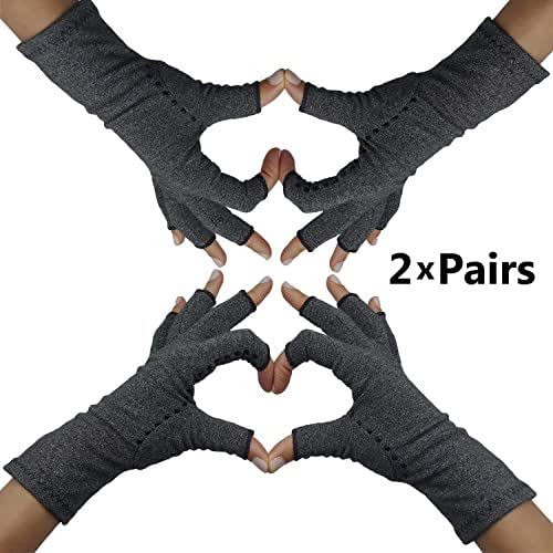 Fingerless Arthritis Compression Gloves – Arthritis Gloves to Help Swollen Hands & Fingers. Rheumatoid Joints & Carpal Tunnel Pain Relief, Fits Women & Men. Warms Knuckles and Supports Wrists (Small)