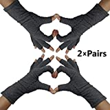 Fingerless Arthritis Compression Gloves – Help Sore Swollen Hands and Fingers. Get Relief from Rheumatoid Joints or Carpal Tunnel Pain, Fits Women and Men. Warms Knuckles and Supports Wrists (Med)
