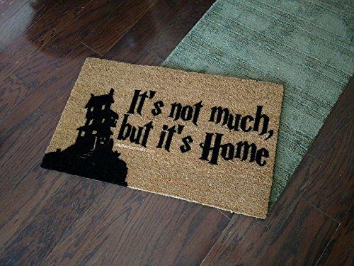 It's Not Much, But It's Home Burrow House Silhouette Fandom Doormat, Size Small - Welcome Mat - Doormat - Custom Hand Painted Doormat by Killer Doormats -