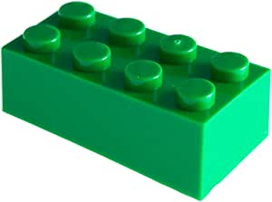 2x4 Green Building Bricks, Pack of 180, Green Building Blocks Alternative Option to Leading Brand 2x4 (Green)