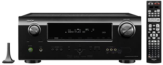 Denon AVR-591 5 1 Channel Home Theater Receiver with HDMI 1 4a (Black)  (Discontinued by Manufacturer)