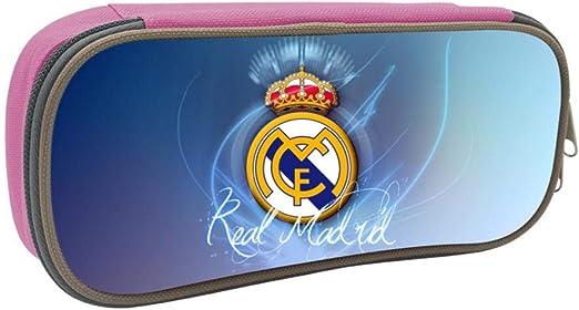 Real Madrid F.C. - Estuche escolar para estudiantes y niños, Rosa, ONE_SIZE: Amazon.es: Amazon.es
