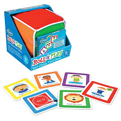 ThinkFun Roll and Play Game for Toddlers - Your Child's First Game! Award Winning and Fun Toddler Game for Parents and Kids
