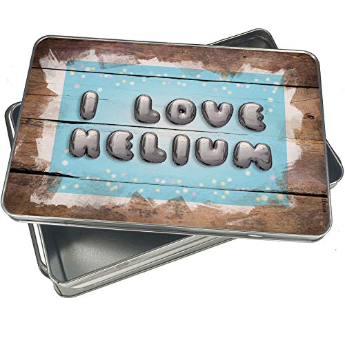 NEONBLOND Cookie Box I Love Helium Balloon Christmas Metal Container -