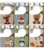 Woodland Animals 6 baby closet size dividers Closet Doodles