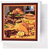 3dRose Happy Thanksgiving - Greeting Cards, 6 x 6 inches, set of 12 (gc_13357_2)