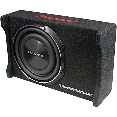 Dual Metal Subwoofers - Pioneer TS-SWX2502 10 inch Shallow-Mount Pre-Loaded Enclosure