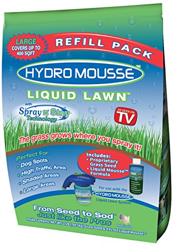 Hydro Mousse - Liquid Lawn Refill, Fescue Grass Seed, 2 LB (Covers up to 400 sq ft)