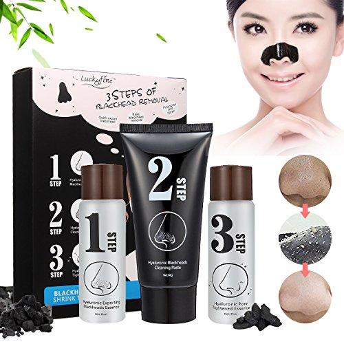 Blackhead 3 Step Kit, LuckyFine - Skin Care Peeling Treatment Mask, Pore Cleanser Shrinking Pores Black Head Remover