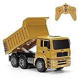 Coaste 332 1:16 Four-Wheel Drive RC Dump Truck Plastic Truck,High Simulation,Kids Present.