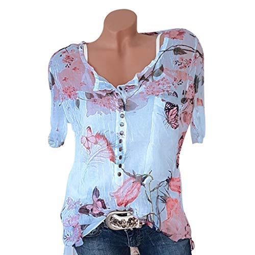76a6521eff3 Bleu shirts Plus Asymétrique D hiver Blouse court Size Itisme Tunique Rayée  shirtst Femme Tops T TPnFq7S