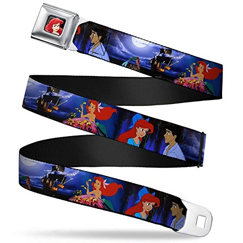 Buckle-Down Seatbelt Belt - The Little Mermaid Ariel & Eric Scenes - 1.5