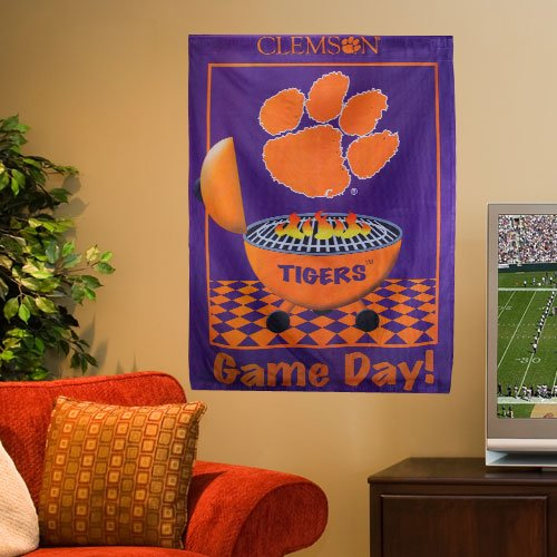 Clemson University Tigers - Game Day - Decorative Flag / Banner - Large Size 28 Inch X 40 Inch