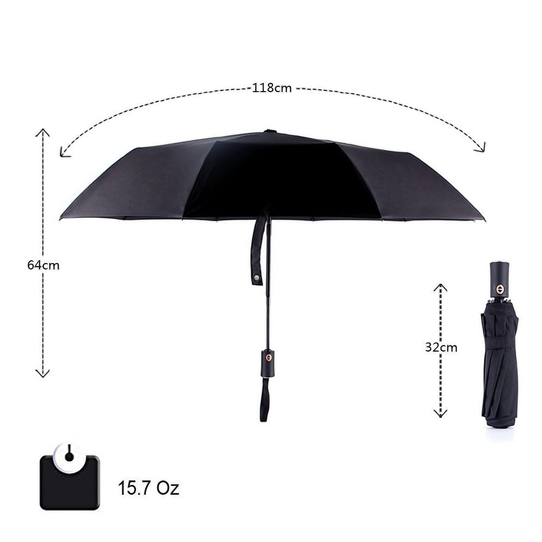 Amazon.com: Labvon Windproof Travel Umbrella, Compact Outdoor Golf Umbrella  with 10 Steel Ribs, Automatic Open and Close Portable Lightweight Fast Dry  for ...