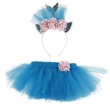 IPOTCH Conjuntos de Falda Tutu de Princesa + Diadema de Deseño de ...