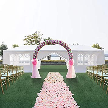 Teekland 10 x30 Outdoor Canopy Party Wedding Tent,Sunshade Shelter,Outdoor Gazebo Pavilion with 8 Removable Sidewalls Upgraded Thicken Steel Tube