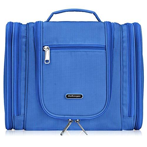 - Waterproof Toiletry Bag Hanging Cosmetic Makeup Travel Organizer bag (Blue)