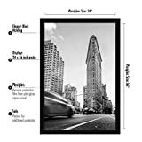 Americanflat 24x36 inch Black Poster Frame
