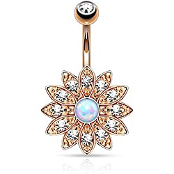 Rose Gold Bow Down to The Bow WildKlass Belly Button Ring