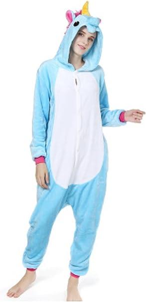 YOGLY Pijama Unicornio para Adultos Pijama Animal Invierno Entero ...