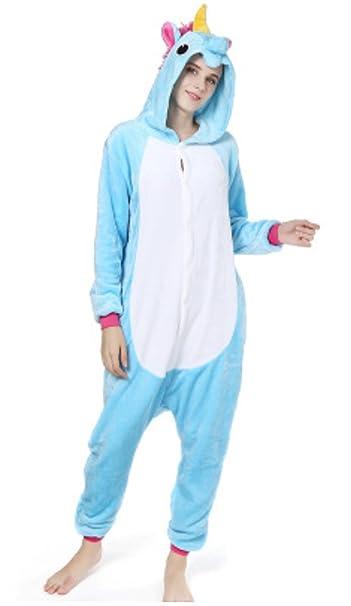 8e35568f7b YOGLY Pijama Unicornio para Adultos Pijama Animal Invierno Entero de  Franela Unisex Pijama Mono Animal Disfraz Navidad para Mujer  Amazon.es   Ropa y ...