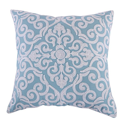 Levtex Architectural Crewel Teal Pillow, Teal