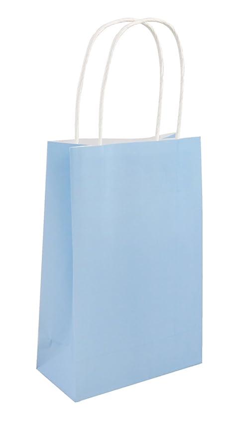 Unidades 24 bebé azul bolsas de fiesta con asas - de una ...