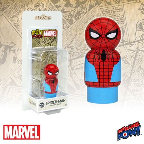 Bif Bang Pow! Captain America Civil War Spider-Man Pin Mate Wooden Figure