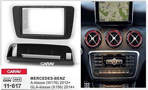 X156 W176 2014+ CARAV 11-617 2-DIN Marco de pl/ástico para Radio para Mercedes Benz A-Klasse 2012+; GLA-Klasse