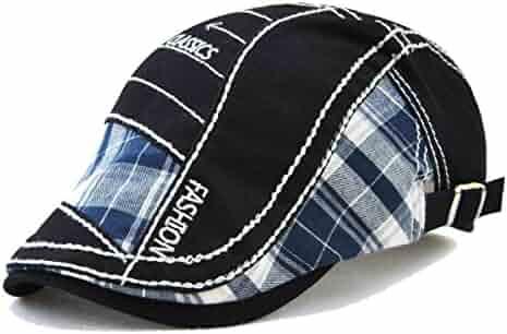0feac886019 FayTop Men s Knitted Wool Duckbill Hat Warm Newsboy Flat Scally Cap Driving  Hats