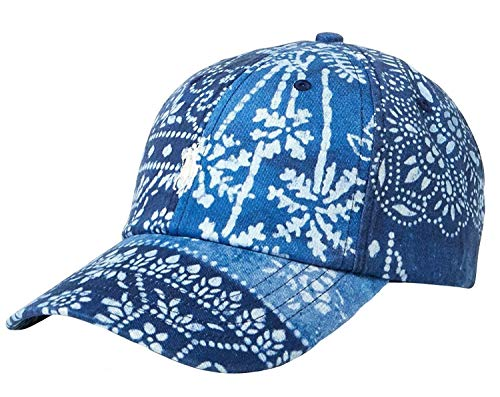 Polo Ralph Lauren Men's Classic Baseball Cap (One Size, Moroccan Tile(5001)/White) - T-shirt Embroidered Cap