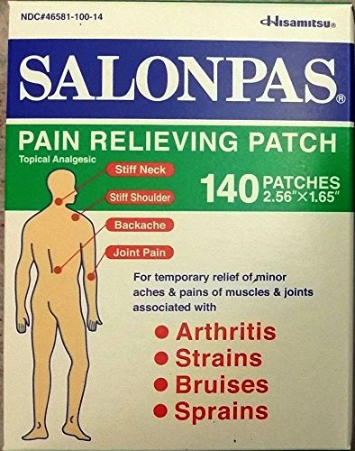 SALONPAS 140 ct Pain Relieving Patches external Arthritis Back Relief Salon Pas