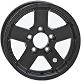 HWT 745545FPBM 14X5.5 5/4.5 Aluminum Series07 Trailer Wheel - Black