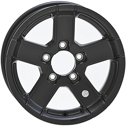 HWT 745545FPBM 14X5.5 5/4.5 Aluminum Series07 Trailer Wheel - Black by Hispec Wheel (Image #1)