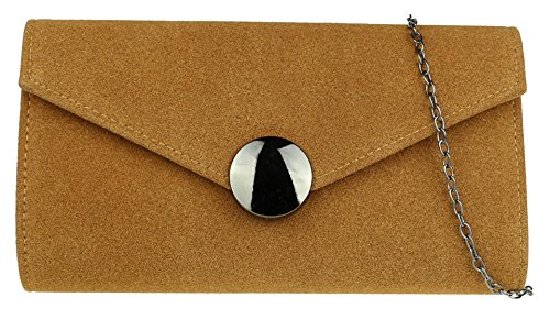 Clutch Girly Bag Closure Tan HandBags Button qUgUBt