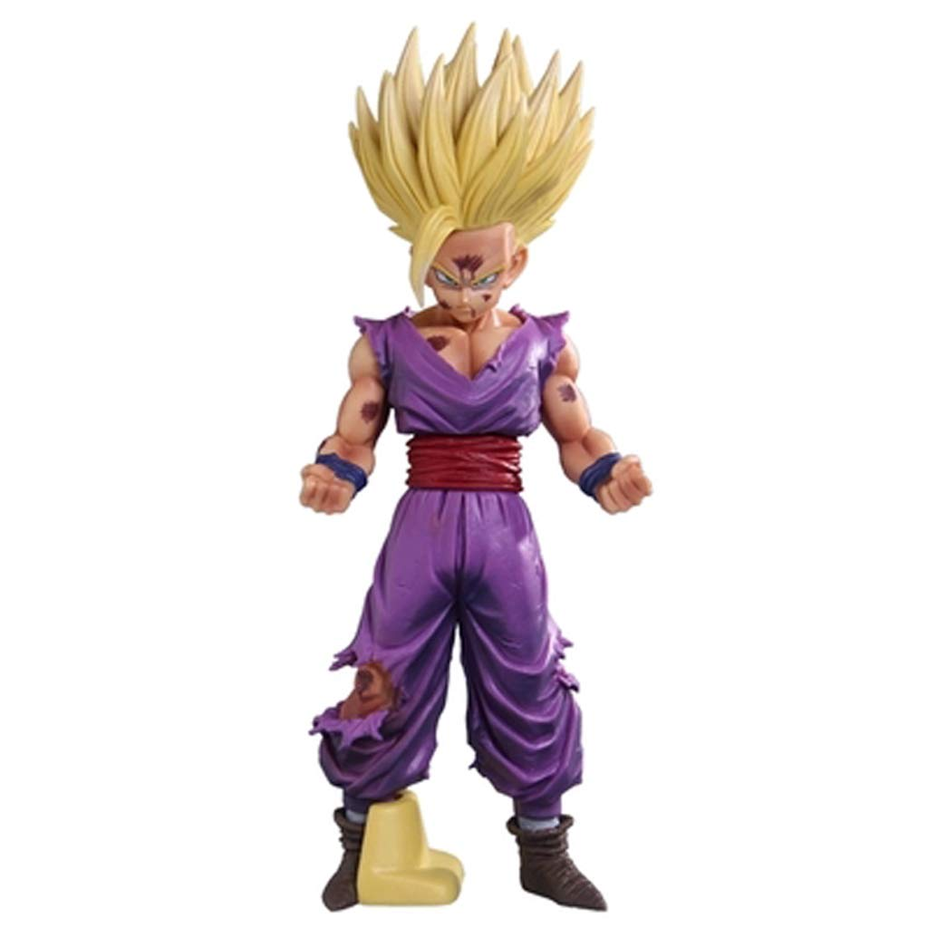 TLMYDD Toy Model Anime Characters Dragon Ball Ornaments Souvenirs Collectibles Crafts Sun Wufan Super Saiyan 22cm Toy statue