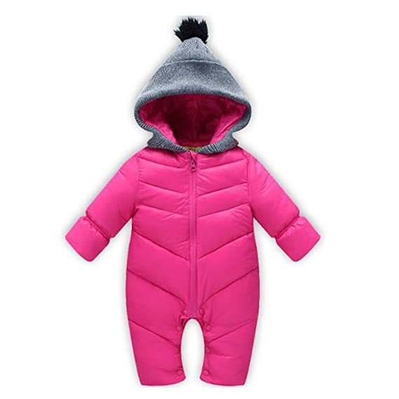 Hzjundasi Recién Nacido Bebé Niños Niñas Moda Traje de Nieve ...