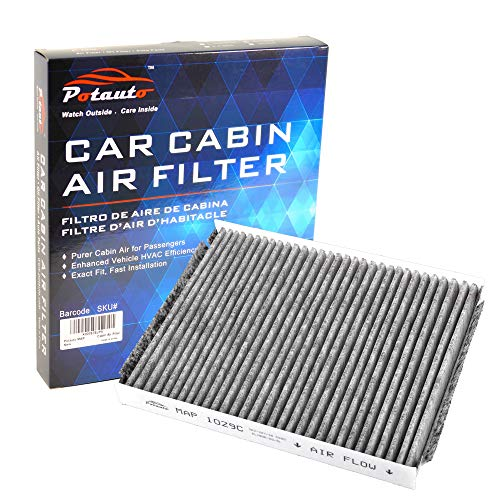 POTAUTO MAP 1029C (CF11664) Replacement Activated Carbon Car Cabin Air Filter for HYUNDAI, Santa Fe, KIA, Sorento (Upgraded with Active Carbon)