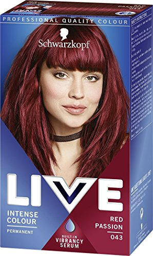 Schwarzkopf LIVE Intense Colour Permanent 043 Red Passion - Pack of 3