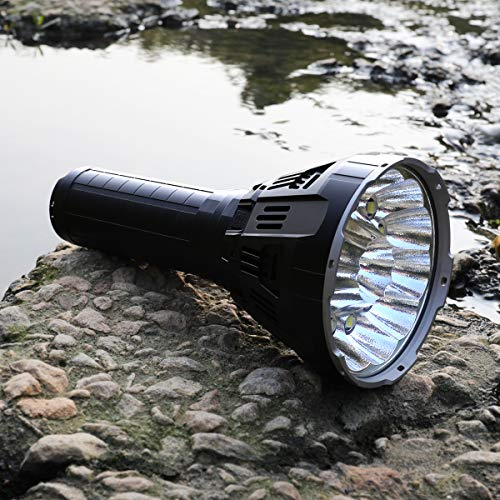 IMALENT MS12 Brightest Flashlight 53000 Lumens, Super Bright Rechargeable Torch Searchlight with 12 Pieces CREE XHP70 LEDs, Built in Cooling Fan, Long Beam Distance 913 Meters by IMALENT (Image #5)