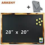 28'' X 20'' Rustic Natural Wooden Chalkboard for Bars , Coffee Shops ,Home Decors, Hand-torched Natural Wooden Frame (American Southern Yellow Pine) By ARKNEY