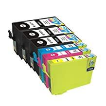 6 Pack - Remanufactured Ink Cartridges for Epson #127 T127 127 T127120 T127220 T127320 T127420 Inkjet Cartridge Compatible With Epson Stylus NX625 NX530 WorkForce 633 630 635 840 645 845 WF-7010 WF-7510 WF-7520 60 545 WF-3540-WF-3520 WF-3530