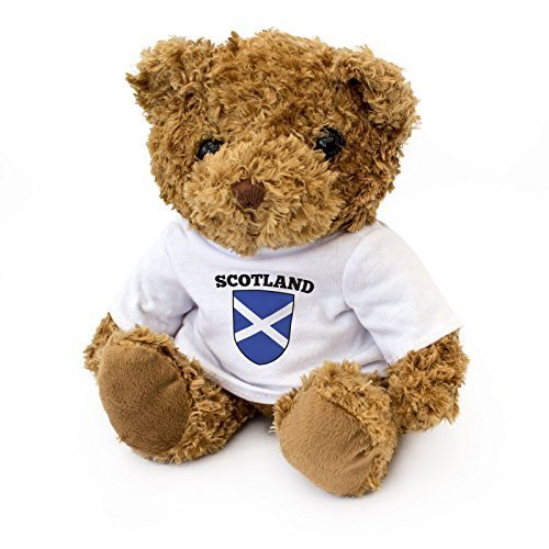 NEW - Scotland Flag - Cute And Cuddly Teddy Bear - Scottish Fan Gift Present