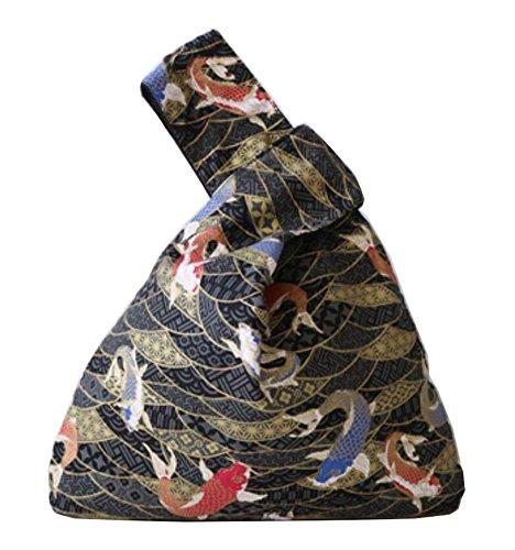U Sacs Kimono Black japonais Stockage Cadeaux main Sacs Temptation à poignet à Pt6wq6Tgn5